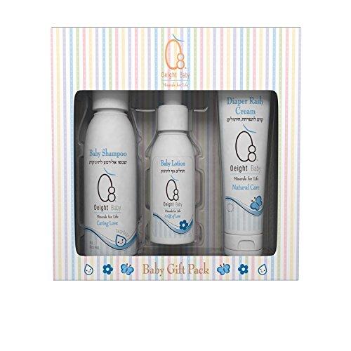 O8 Oeight - Premium Gift Pack Box for Baby Skin Care : Baby Shampoo/baby Lotion/diaper Rash Cream Set
