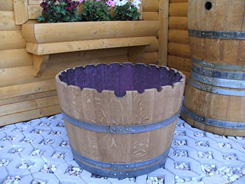 JUNIT KRANZ110L Pflanzenkübel Fasskübel Miniteich Eichenfasshälfte