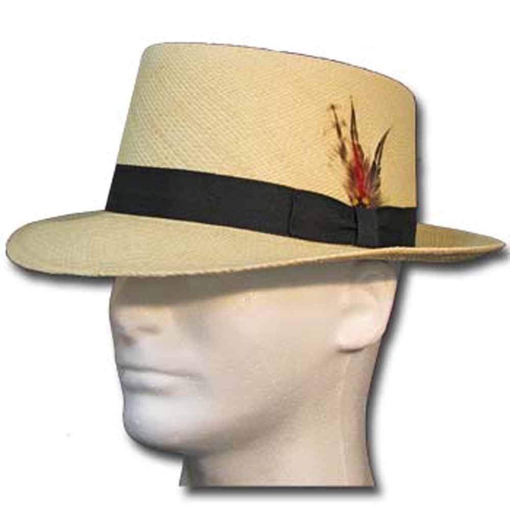 Men's Vintage Style Hats Pork Pie Milan Panama Natural Straw Hat Dress $197.45 AT vintagedancer.com