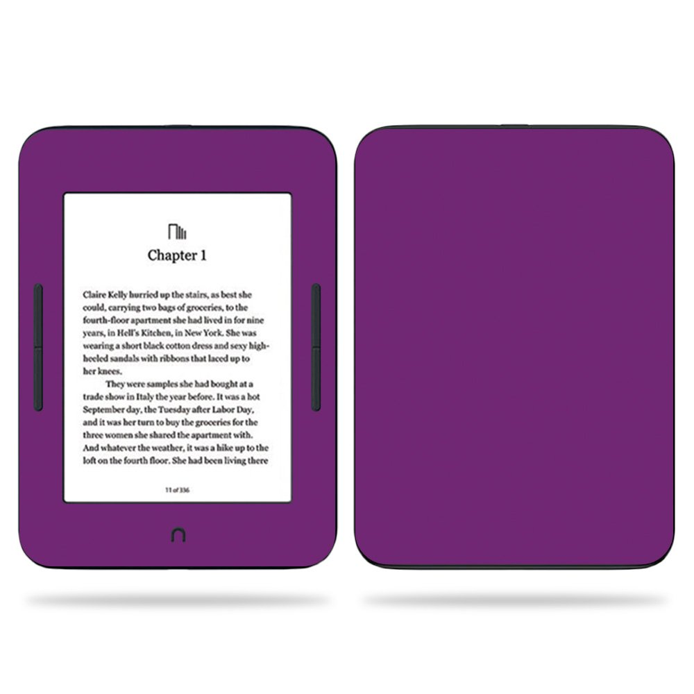 MightySkins Skin For Barnes & Noble NOOK GlowLight 3 (2017) - Solid Purple | Protective, Durable, and Unique Vinyl Decal wrap cover | Easy To Apply, Remove, and Change Styles | Made in the USA