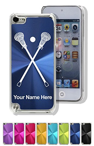 Aluminum Ipod Touch Case - Case for iPod Touch 5th/6th Gen - Lacrosse Sticks - Personalized Engraving Included