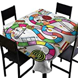 Board Game Resistant Table Cover Kids Play Notebook Paper High-end Durable Creative Home 70 x 70 Inch