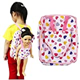 Snowfoller Fashion Cute Bags, Child Size Backpack with Built-in Doll Carrier Sleeping Bag for 18''American Girl Doll