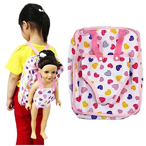- Funny Toy for Kids Baomabao Children Kids Backpack Doll Carrier Sleeping Bag For 18''American Girl Clothes (B)