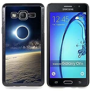 Moon Sun Eclipse Earth Atmosphere View Caja protectora de pl??stico duro Dise?¡Àado King Case For Samsung Galaxy On5 SM-G550FY G550