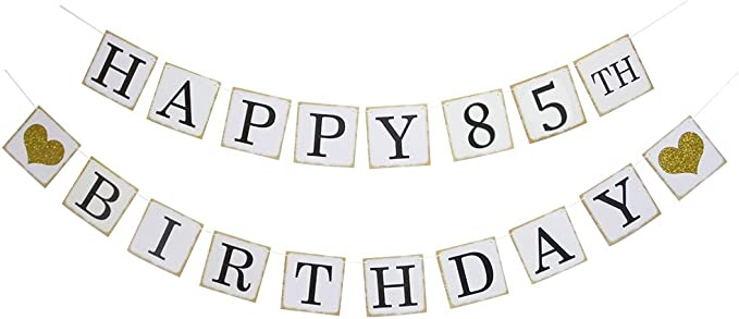 HAPPY 85th BIRTHDAY BANNER 2FT X 6FT NEW LARGER SIZE