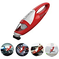 FINE DRAGON Cordless Hand VAC Portable Auto Handheld Mini Car Vacuum Cleaner - Red