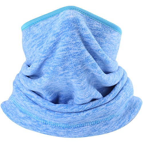 - AXBXCX Fleece Neck Warmer Unisex - Windproof Neck Gaiter Tube Face Mask Ear Warmer Headband Mask & Beanie for Ski Snowmobile ATV Riding Fishing Running Motorcycles Blue 04