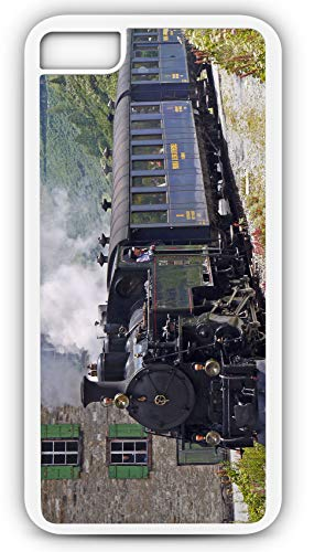iPhone 7 Plus 7+ Case Steam Railway Train Railroad Furcal Bergstrecke Entrance Gletsch Customizable by TYD Designs in White Rubber