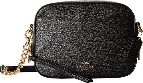 COACH Women's Camera Bag in Polished Pebble Leather Li/Black One Size