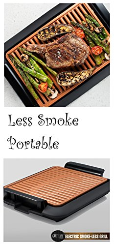 Gotham Steel Smokeless Electric Grill Portable And