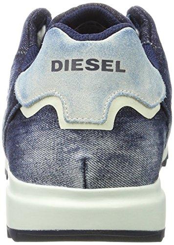 Diesel V-staffetta S-fleett - Sneak Y01461, Scarpe Basse Uomo Blu (Indigo)