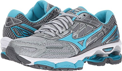 Mizuno Running Women's Wave Creation 19 Shoes, High-Rise/Blue Atoll/Castlerock, 6 B US (Best Mizuno Running Shoes For Flat Feet)