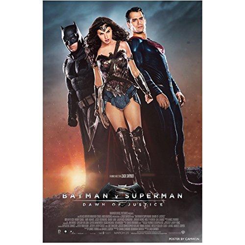 Batman V Superman: Dawn of Justice (2016) 8 Inch x10 Inch Photo Ben Affleck, Gal Gadot & Henry Cavill Sunrise in Background Movie Poster kn