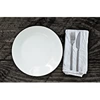 Set de Platos, Planos, 27 cm, Porcelana, 6