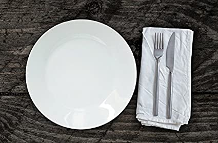 Set de Platos, Planos, 27 cm, Porcelana, 6 Unidades, Color Blanco