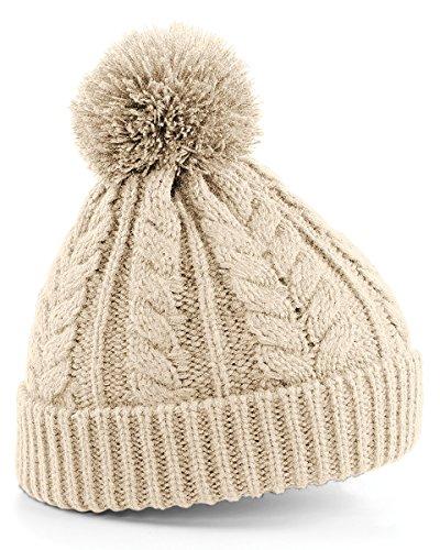 Beechfield Cable knit snowstar beanie Oatmeal -