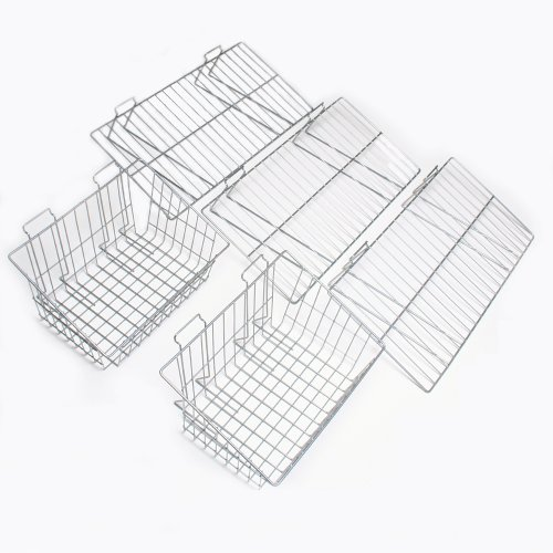 Proslat 11003 Garage Organizer Value Pack with 3 Shelves and 2 Steel Baskets, Designed for Proslat PVC Slatwall by Proslat