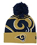 Los Angeles Rams New Era NFL ''Logo Whiz 2'' Cuffed Knit Hat with Pom