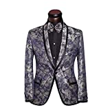 Cloudstyle Mens Tuxedo Casual Dress Suit Slim Fit Jacket & Trouser