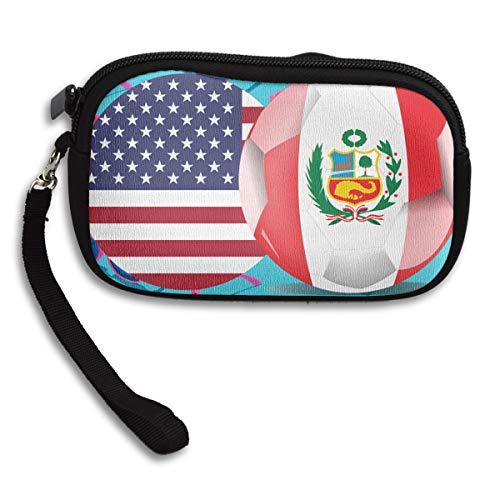 Peru Flag Small USA Bag Purse Receiving Printing Deluxe Portable ZqSSxd6