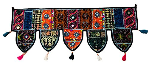 Craft Maharaja Door Valance Handmade Rajasthani Embroidery Old Sari Patch Work Decor (39