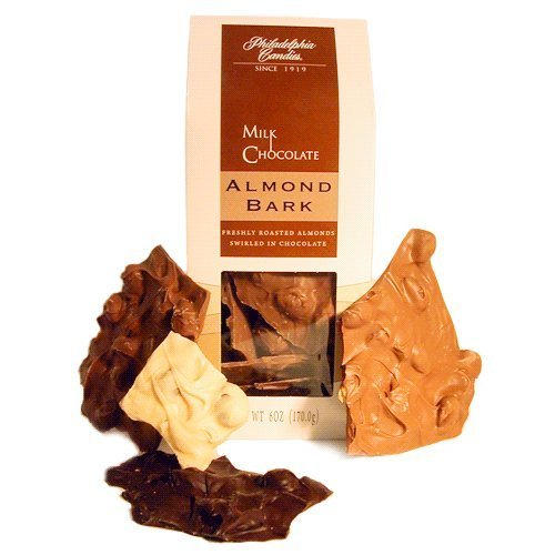 (Philadelphia Candies Milk Chocolate Almond Bark, 6 oz. Gift Bag by Philadelphia Candies)