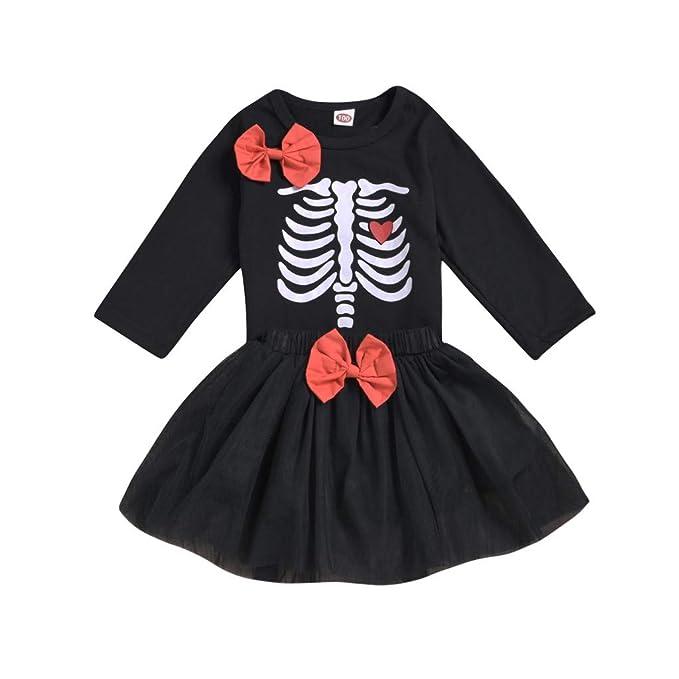 QinMMROPA Vestido Disfraz de Halloween para niñas Bebe ...