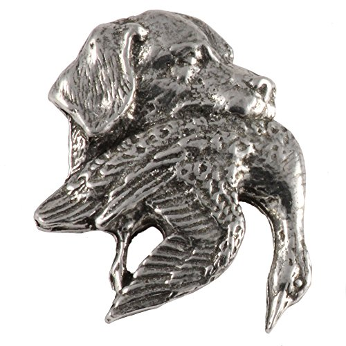 Labrador with Duck Dog Pewter Lapel Pin, Brooch, Jewelry, D114 (Labrador Pin Jewelry)