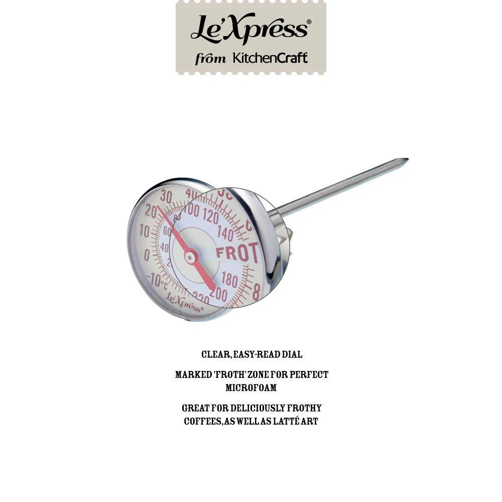 metallizzato Kitchencraft Kclxmilktherm termometro