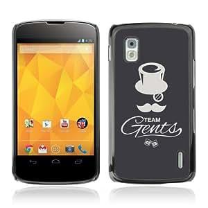 YOYOSHOP [Cool Gentleman Team Illustration] LG Google Nexus 4 Case
