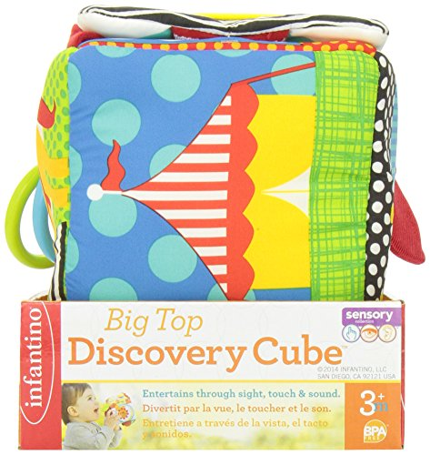 51TKXeQ%2BdDL - Infantino Big Top Discovery Cube Development Toy