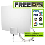 Mohu Leaf 30 Television Antenna, Indoor, 30 Mile Range, Original Paper-thin, Reversible, Paintable