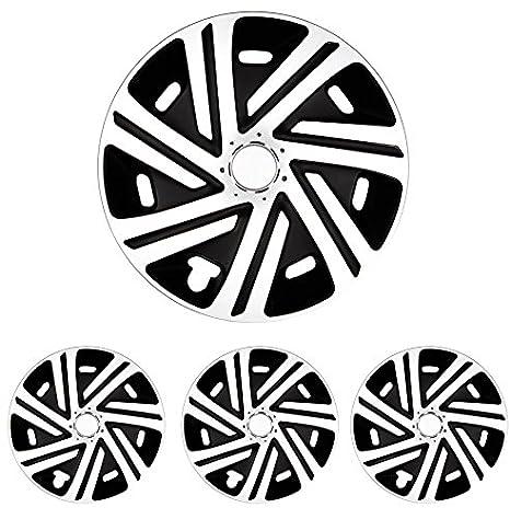 Tapacubos – Tapacubos Tapacubos cyrcon Blanco y Negro 15 pulgadas 15 R15 universal apto para