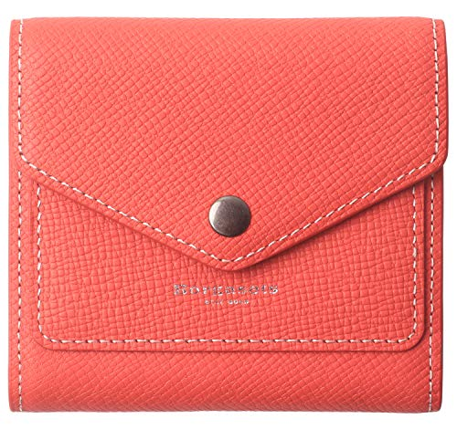 - Borgasets Women's RFID Blocking Small Compact Bifold Leather Pocket Wallet Ladies Mini Purse (Crosshatch Red)