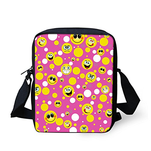 HUGS IDEA Y-H357E - Bolso cruzados para mujer Small Morado Emoji10 Small Emoji4