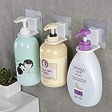 Shower Gel Bottle Rack Hook Bracket Bathroom Wall Magic Paste Shampoo Suction Wall Type Seamless Hook 3 Pack