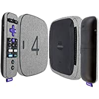 Skinomi TechSkin - Roku 4 Brushed Aluminum Full Body Skin / Front & Back Wrap Clear Film / Ultra HD and Anti-Bubble Invisible Shield