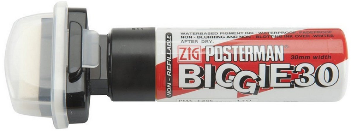 Zig Posterman Chalkboard Marker Pen 30mm Tip - Black