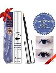 [2018 Upgraded] Premium Eyelash Growth Serum, Eyebrow Growth Serum, Best Eyelash Growth Serum For Longer, Thicker Eyelash And Eyebrow! Doctor Recommended Eyelash Growth Serum!