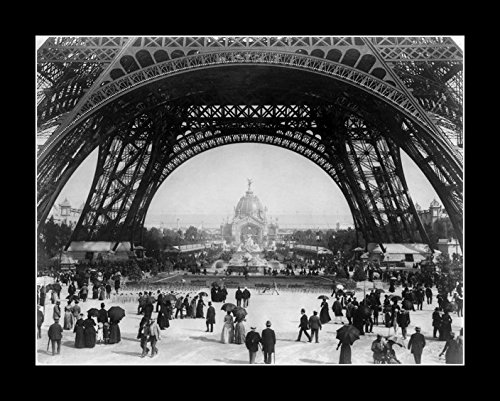 8 x 10 All Wood Framed Photo Flickr_-_?Trialsanderrors_-_Paris_Exposition_View_From_Ground_Level_Of_The_Eiffel_Tower_With_Parisians_Promenading_1889