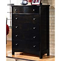 Ashley Furniture Signature Design - Harmony Chest of Drawers - 5 Drawers - Contemporary - Dark Brown