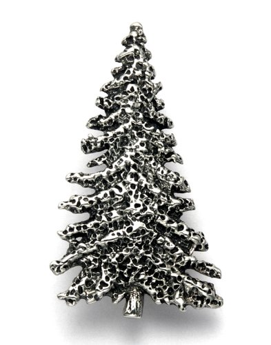 - Wild Things Sterling Silver Christmas Pine Tree Pin