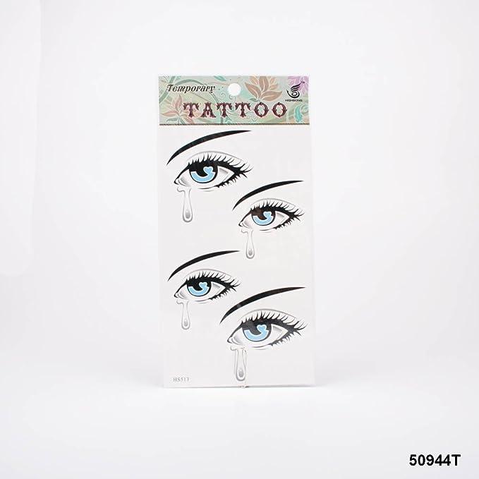 Tatuajes Hübsches Ojo Azul con lágrima: Amazon.es: Salud y cuidado ...