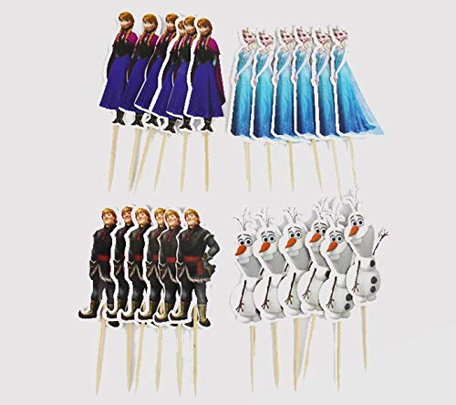 Encore Buy Frozen Themed Cupcake Toppers (24 PC - 6 of 4 designs)]()