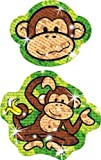 30 x Lively Monkey (+ 18 small Banana Stickers) Children's Sparkle Stickers by Trend