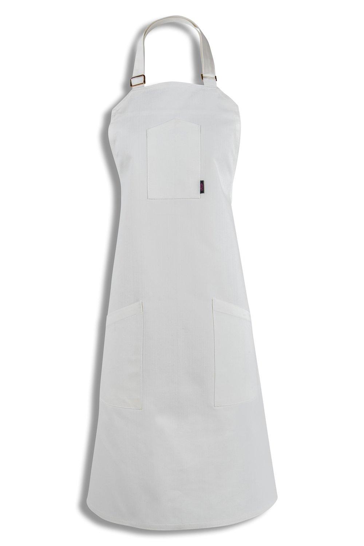 ホワイトライスBaby 。エプロン[ホワイト色付きホワイトダブルステッチ] – プレミアムシェフエプロン、Chef Angelo Sosa   B07D6XHSP9