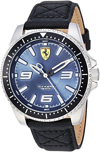 Ferrari Men's 'XX KERS' Quartz Stainless Steel and Nylon Casual Watch, Color:Black (Model: 830486)