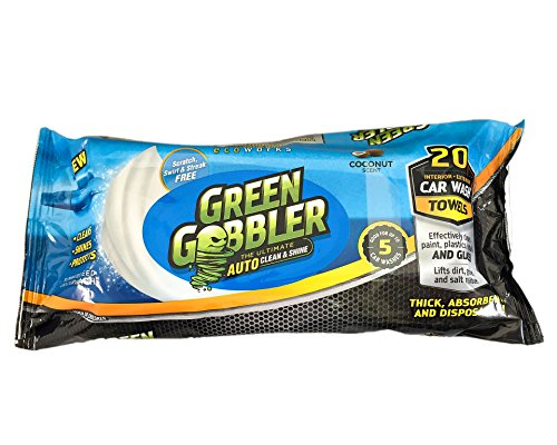 green-gobbler-clean-shine-waterless-car-wash-auto-towels-for-interiors-exteriors-cleaning-super-thic