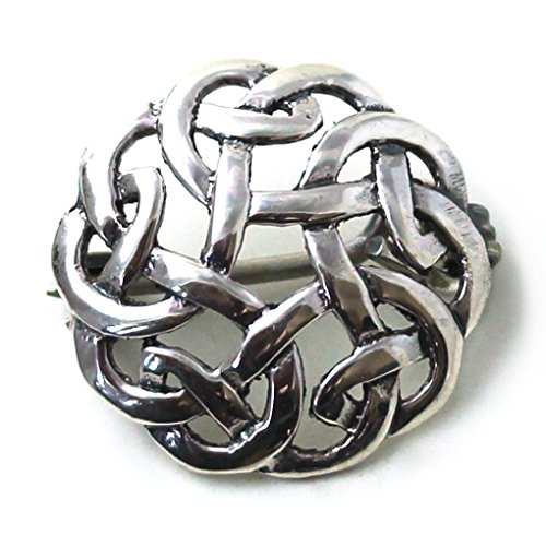 Ship Brooch Pin Free (LynnAround 925 Sterling Silver Norse Filigree Brooches , Cloak, Shawl, Scarf Pin, Celtic Irish Vintage Jewelry)